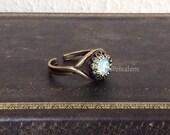 Mint Ring Swarovski Crystal Ring Mint Green Ring Pale Light Aqua Turquoise Teal Great Gatsby Boho Exotic Fantasy Friendship Ring Gift