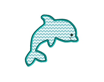 Dolphin II Applique Machine Embroidery Design-INSTANT DOWNLOAD