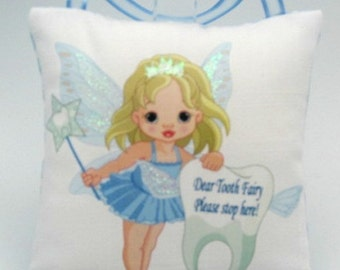 Tooth Fairy Pillow, Personalized Tooth Pillow