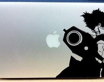 Spike Cowboy Bebop - Vinyl Macbook / Laptop Decal Sticker