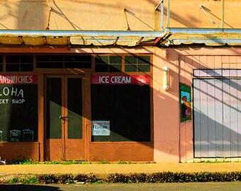 """5x7, Digital Print, """"Aloha Sweet Shop"""""""
