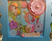 Brighten Up - Shabby Chic Mixed Media Collage