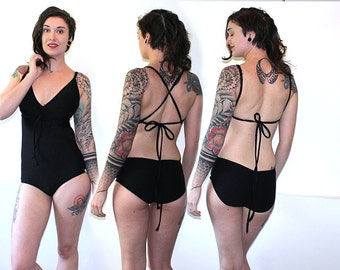 Custom REVERSIBLE 6 in 1 Monokini One-Piece Swimsuit /Any Size /32 Colors or Prints /Made to Measure