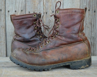 Vintage Cats Paw Sole 50s Smoke Jumper Packer Work Boots 7 5