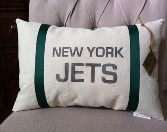 New York Jets Football Pillow