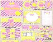 Pink Lemonade Party - Lemonade Stand Printables - Printable Pink Lemonade Party Set - Lemonade Printables - Full - Small or Medium Set