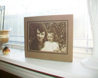 Mother and Daughter Vintage Photograph 1930s