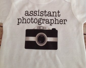 assistant photographer Baby One Piece (Custom Colors/Wording)