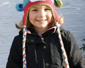 Lottie Crochet Sock Monkey Hat, Newborn to 5T - Preteen, MADE to ORDER