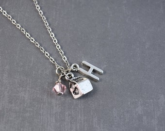 Milk Necklace - Food Jewelry - Milk Carton Necklace - Personalized Necklace - Custom Jewelry - School Necklace - Milk Charm Necklace -