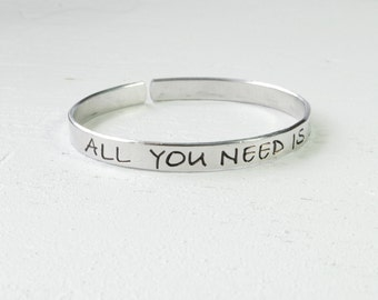 SALE All You Need Is Love Cuff