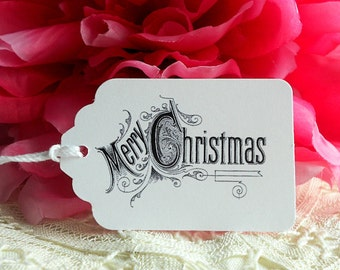 Merry Christmas Gift Tags Gift Wrapping Party Favors Treat Bags Homemade Goodies To and From