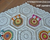 Crochet pattern owl hexagon by ATERGcrochet