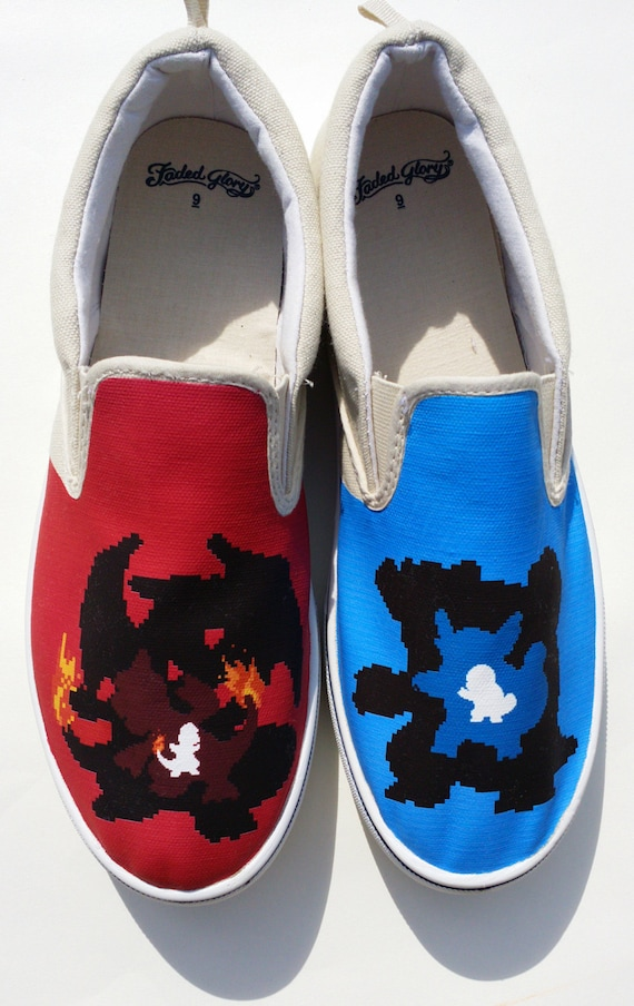 custom and blue version canvas shoes