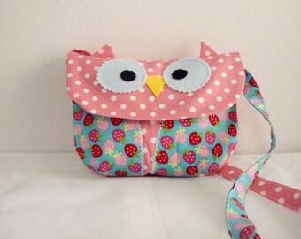 The little Owl Carry owl bag/purse/ toddler bag/girl's purse/owl bag/cross body bag/handbag/Birthday gift idea/gift for girls/Made to order