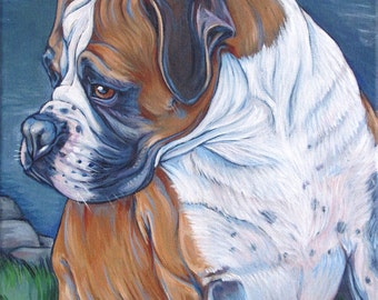 """11"""" x 14"""" Custom Pet Portrait Painting in Acrylic on Canvas of One Dog, Cat, or Other Animal Ready to hang no framing needed dog lover gift"""