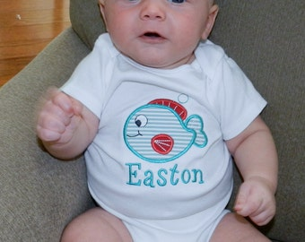 Personalized Fish Shirt or Bodysuit