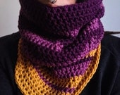 Guilded grape cowl OOAK