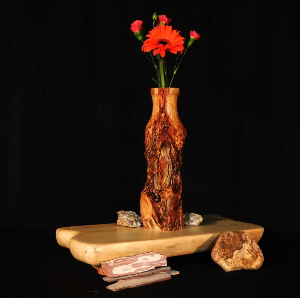 Rustic log bud vase aspen wood home d cor by therusticnature for Aspen logs for decoration