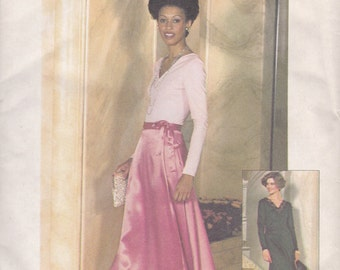 Floor Length Wrap Skirt & Top or Dress Pattern Simplicity 7166 Size 10 Uncut