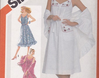 Vintage Sundress Pattern Simplicity 5495 Size 10 Uncut