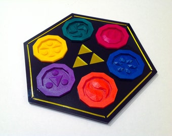 Zelda Sage Medallions with Sage Temple Plaque