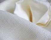 Linen Upholstery Antique White Thick Eco Friendly Fabric--White Linen Tissue without finish--DIY Projects
