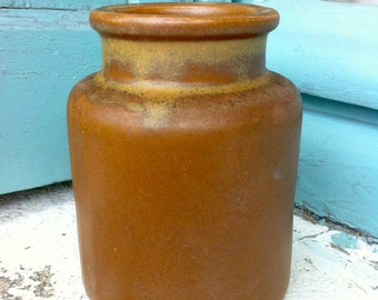 Vintage mustard jar. Authentic French stoneware mustard pot