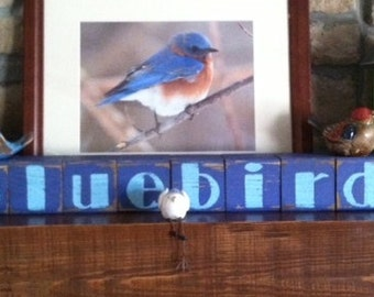 wooden blocks personalized with your phrase or name made to order