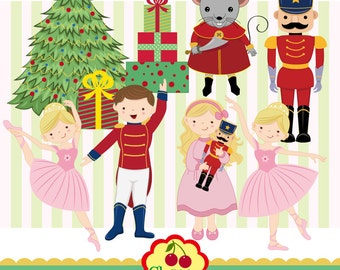 Nutcracker Ballet digital clipart set -Christmas digital clipart -Personal and Commercial Use