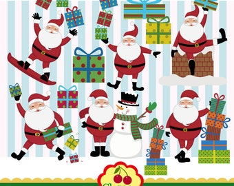 Santa Claus Digital Clip art Set,Christmas Digital Clip art ,Santa clip art,Christmas clip art