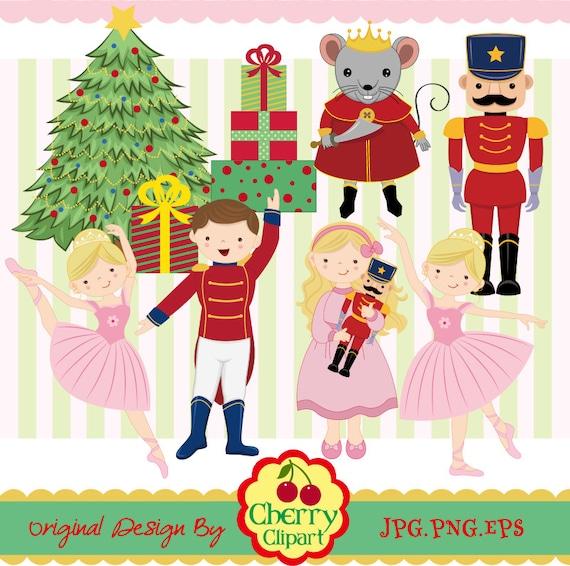 Nutcracker Ballet digital clipart set Christmas digital
