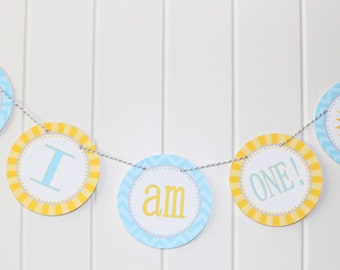 LITTLE SUNSHINE Highchair Banner 1st Birthday Party Bright Colors