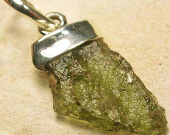 RARE Moldavite Tektite Pendant, Jewelry Making, Birthday Gift, Christmas Present, Collectable, Metaphysical, Reiki Infused - SALE