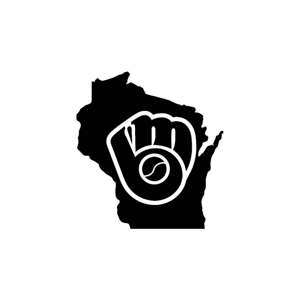 Milwaukee Brewers Wisconsin Pride Vinyl Decal - Custom vinyl decals milwaukee