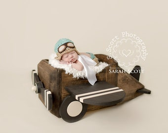 Newborn Aviator Hat and Pants - Photography Prop