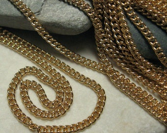 Baby Curb Chain in Hamilton Gold Finish.  6 ft.