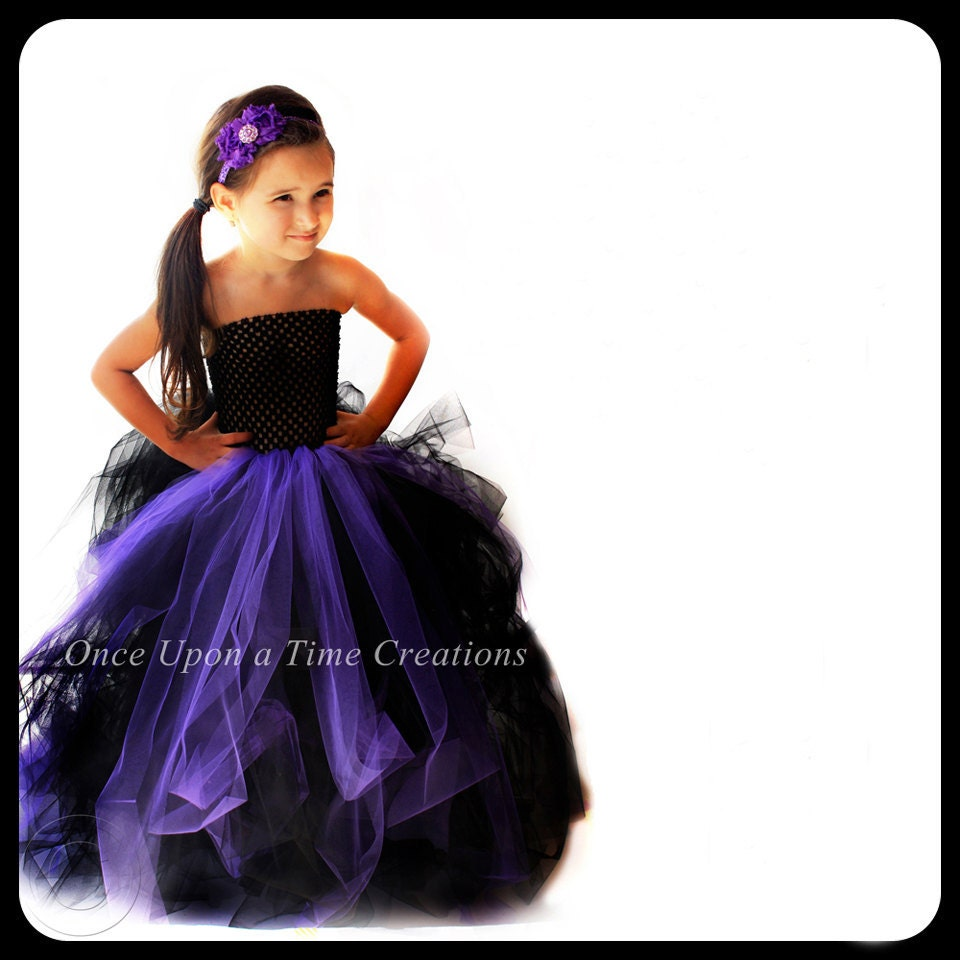 Ready To Ship Couture Witch Tutu Dress Little Girls Size 6