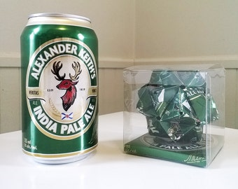 Alexander Keith's India Pale Ale Beer Can Origami Ornament.  Upcycled Recycled Repurposed Art