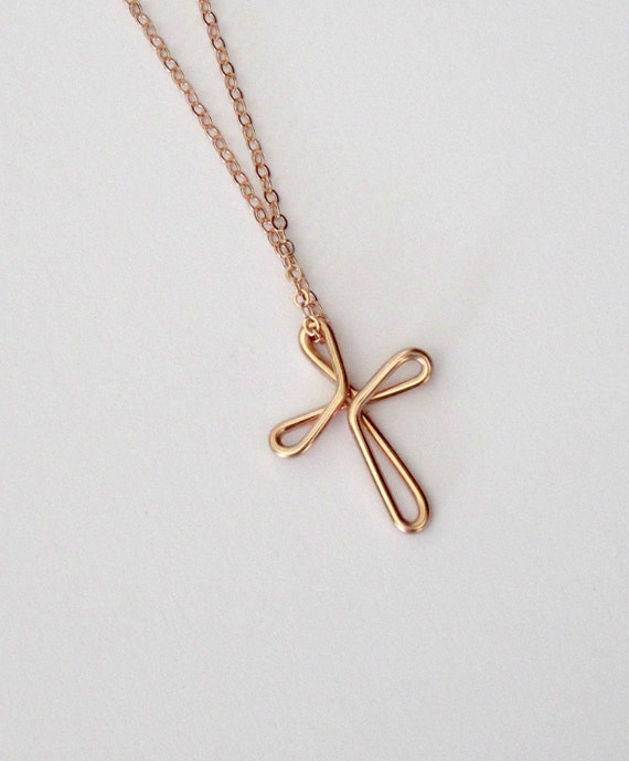 cross necklace rose gold continuous love celtic cross knot. Black Bedroom Furniture Sets. Home Design Ideas