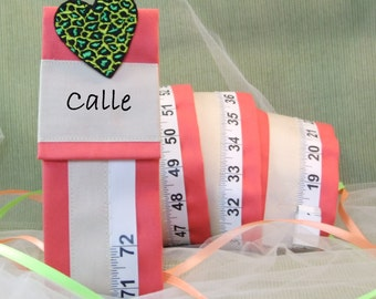 Personalized - GIRL'S GROWTH CHART - Keepsake for Baby Girl - Coral