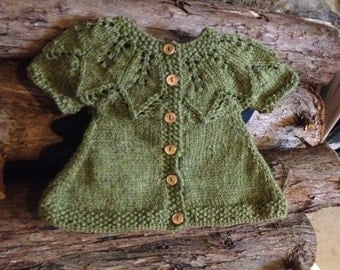 Hand-knitted Baby Girl Sweater