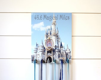 Dopey Challenge Medal Holder - 48.6 Magical Miles - Disney Princess