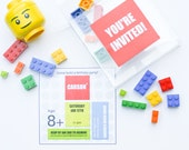 LEGO® Party Invitation | Boxed Invitation | Set of 4