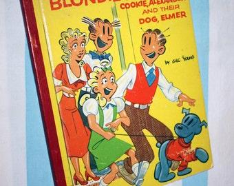 Blondie's Family, Cookie, Alexander and their Dog, Elmer, 1954 Treasure Book