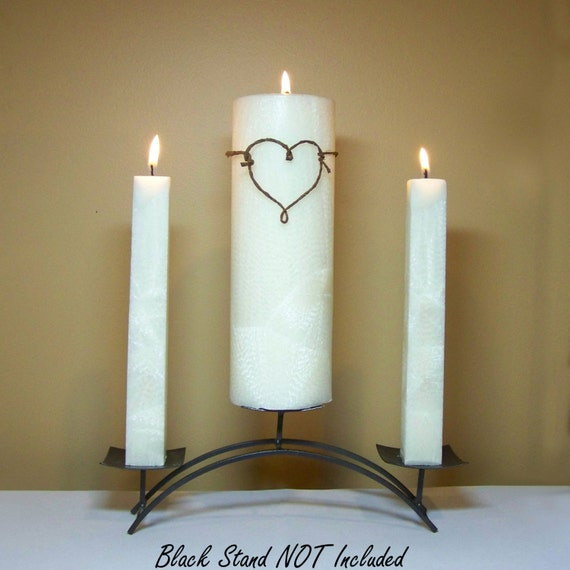 Wedding Ceremony Unity Candle Set Stand NOT Included