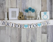 Bridal Shower Banner - Bride To Be Banner - Bridal Shower Decorations - Bachelorette Party - Blue - Hens Party