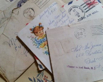 1940s 1950s Antique Family Letters James Piper and Family Handwritten Correspondence Lot