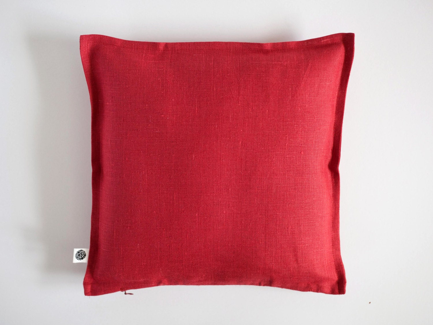 Throw Pillows With Covers : Red throw pillow pillow covers linen luxury pillow case