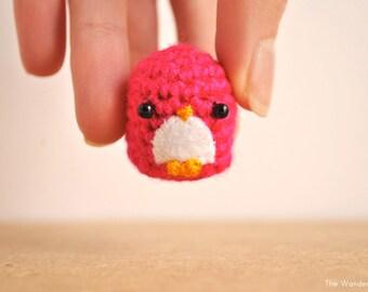 Amigurumi Penguin, Crochet doll, kawaii penguin, cute keychain, gift for teens, kawaii charm, cute phone dangle, handmade penguin